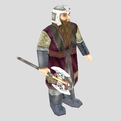 fantasy dwarf unit 3d model
