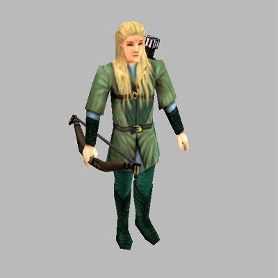 fantasy elve unit legolas 3d model