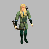 fantasy elve unit legolas 3d model