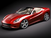 3d model ferrari california