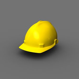 hardhat protection equipment 3d model