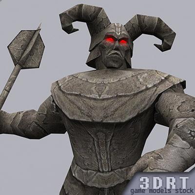 statue games molten 3d model