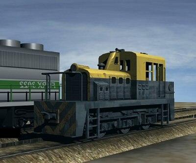 3ds max switcher locomotive