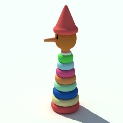 pinocchio toy 3d model