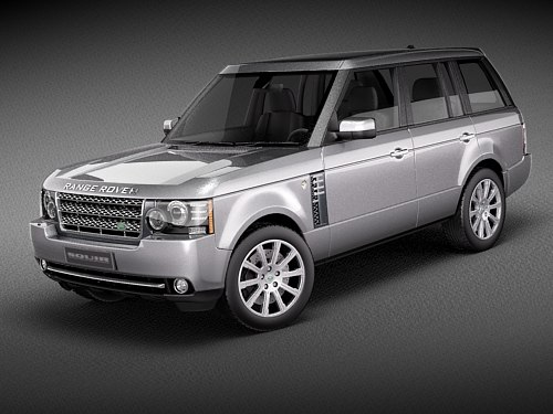 land rover range 2010 3d model
