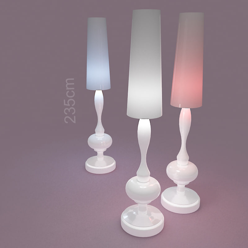 tall white lamp 3d model