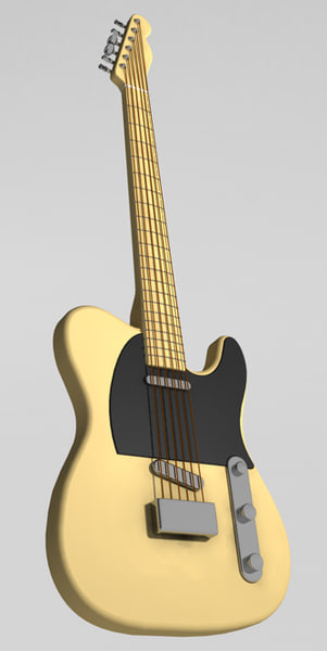 fender telecaster guitar 3d model