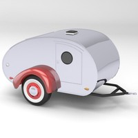 teardrop travel trailer 3d model