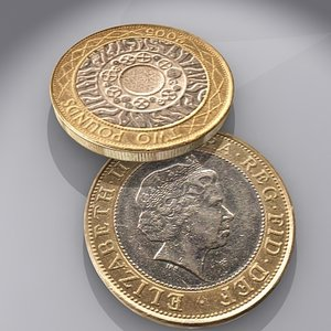 british pound coin 3d max