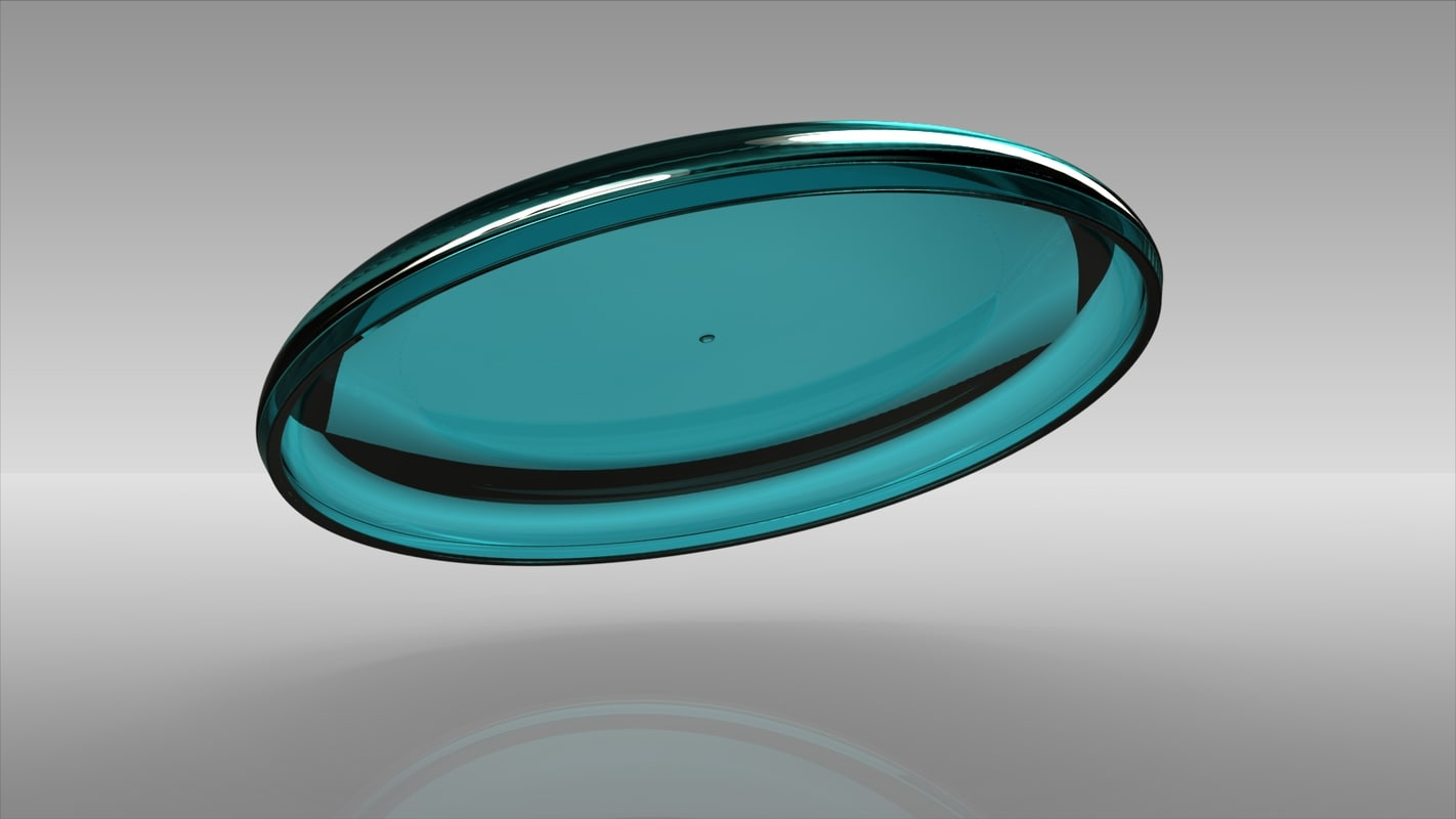 scale frisbee 3d model