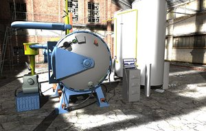 vacuum furnace 3d model