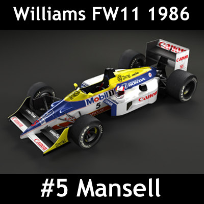 3d model william fw11 f1 car