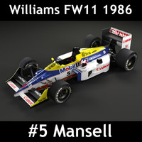 3d model william fw11 f1 car
