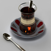 glass turkish tea 3d model