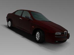 alfa romeo 156 3d model