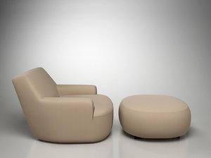 poliform bug chair 3d model