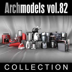archmodels vol 82 coffee machines 3d model