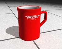 3ds max coffee cup nescafe