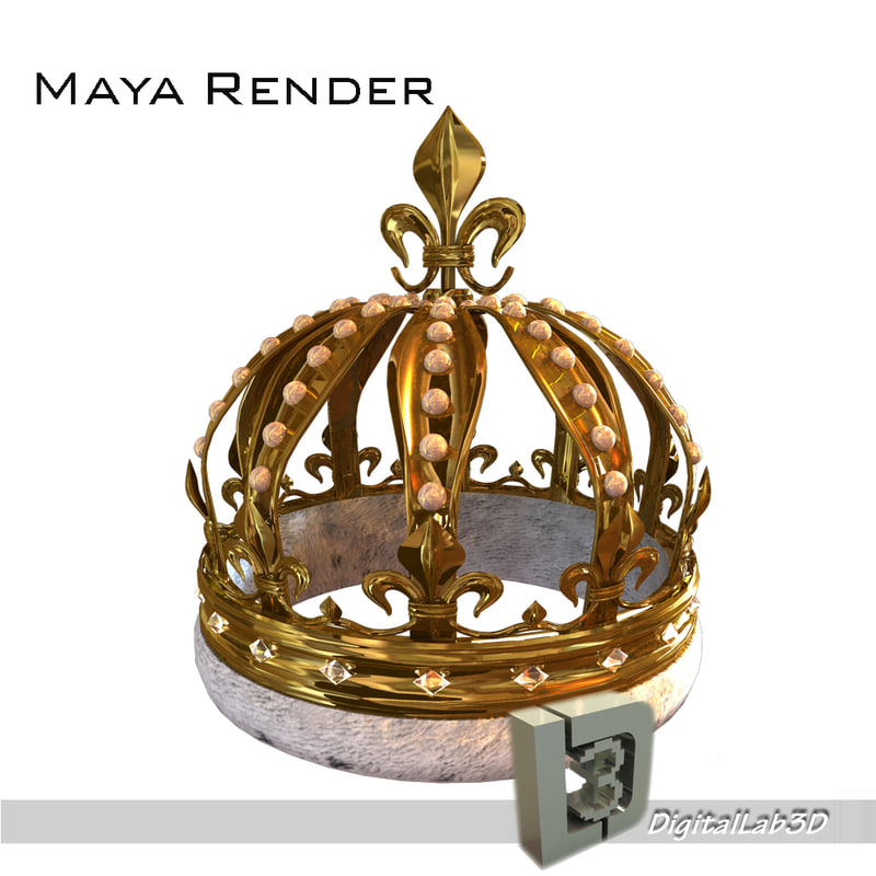 3d model of pearl crown