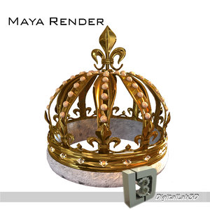 3d model of pearl crown