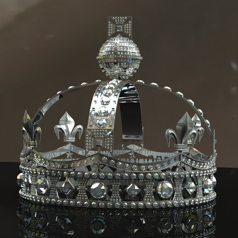 3d diamond crown