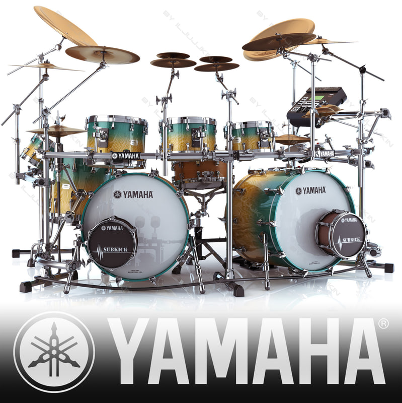 3ds acoustic drum sets yamaha for Electric drum set yamaha
