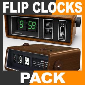 dxf retro style flip clocks