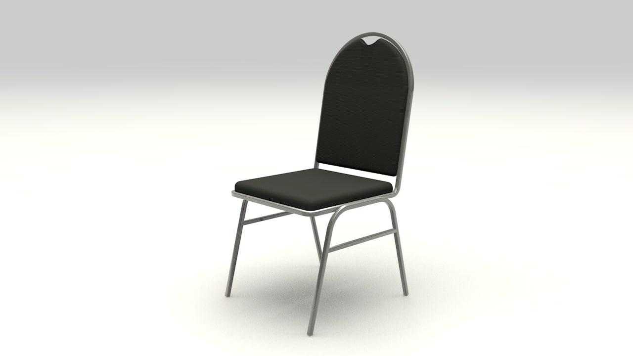 3d model banquet chair