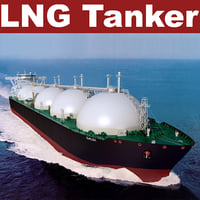 lng tanker galea 3d model