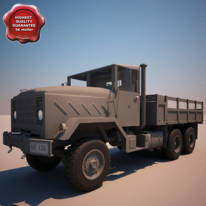 3ds max m923 transport truck v1