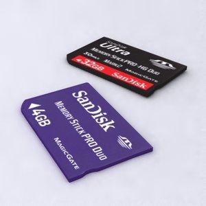 memory card 3d model