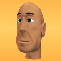 3d lwo male cartoon head 2