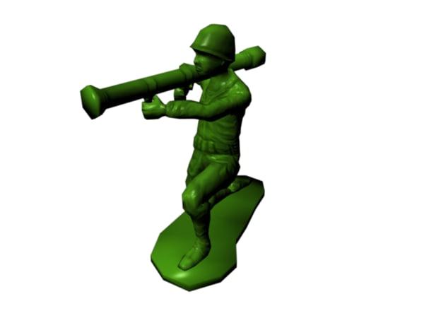 3ds max plastic army man -