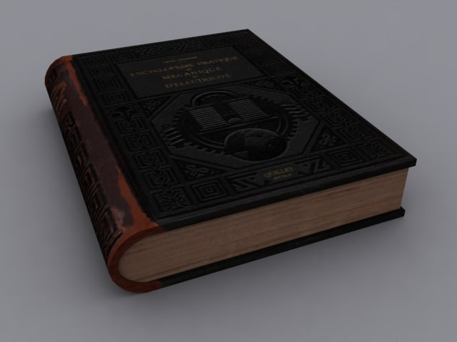 3d model of book games ready