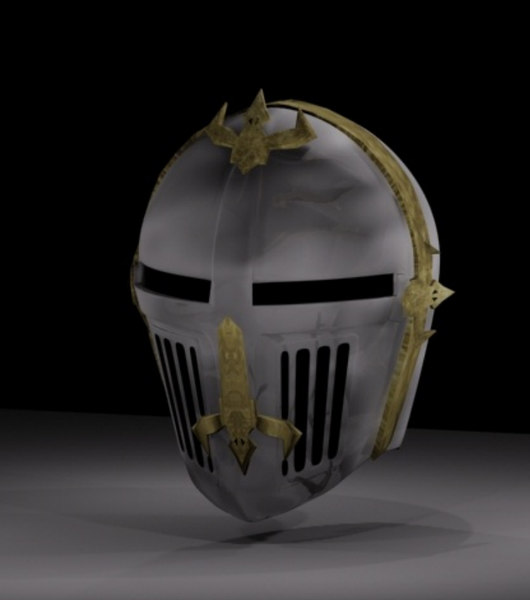 free knight s helmet 3d model