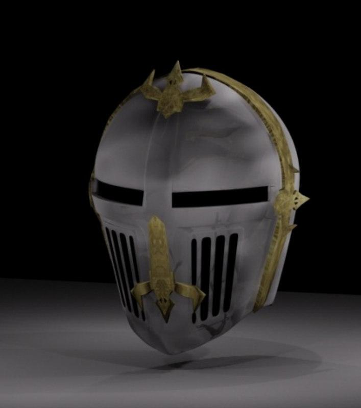 free knight s helmet 3d model
