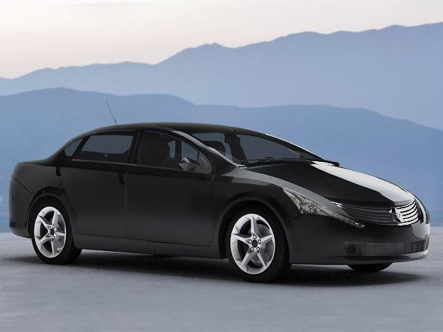 3d electric concept car