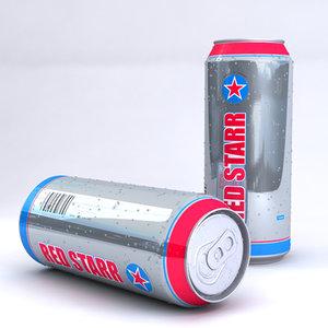 3d model unbranded beer