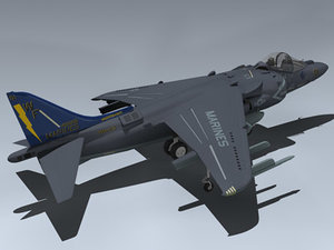 3d model av-8b super harrier vma-513