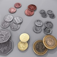 3d model british coin