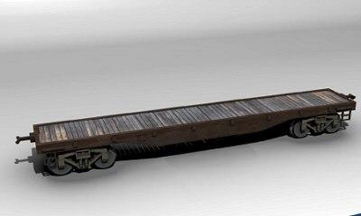 3d model flatcar virgina truckee