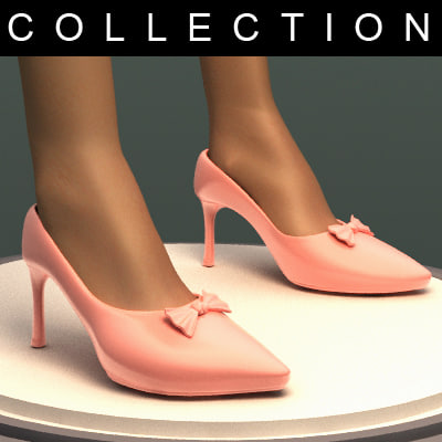 legs heel shoes 3d model