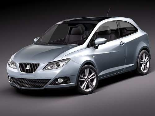 3d seat ibiza sportcoupe sport coupe model