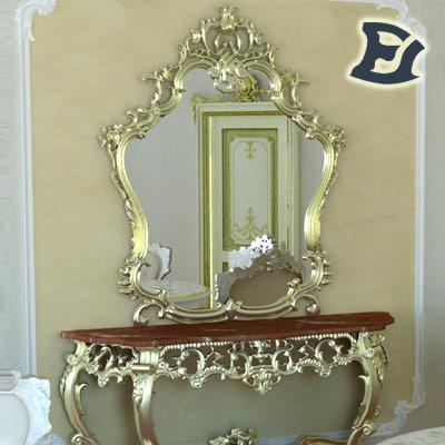3ds max vanity table mirror