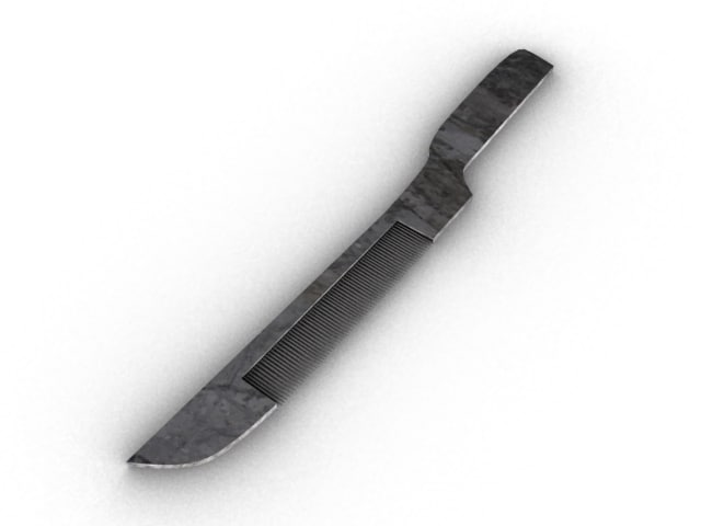 knife comb 3d model