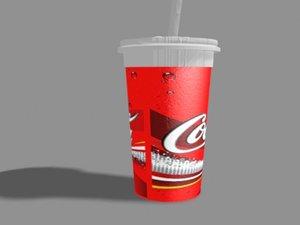 3d soda cup coca-cola