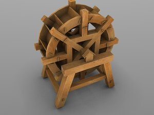 waterwheel water wheel 3d model