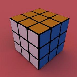 3d model rubick s cube