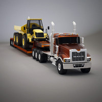 truck titan dump 3d model