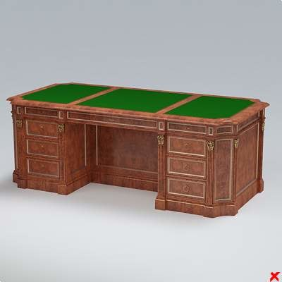 3d executive table model